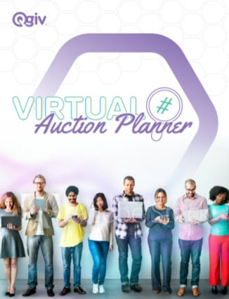 Virtual fundraising auction event planner cover image.
