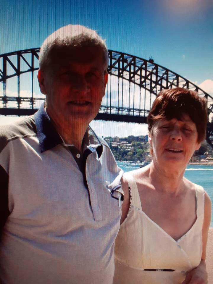 Malcolm with Margaret before her diagnosis of Alzheimers - more than a carer